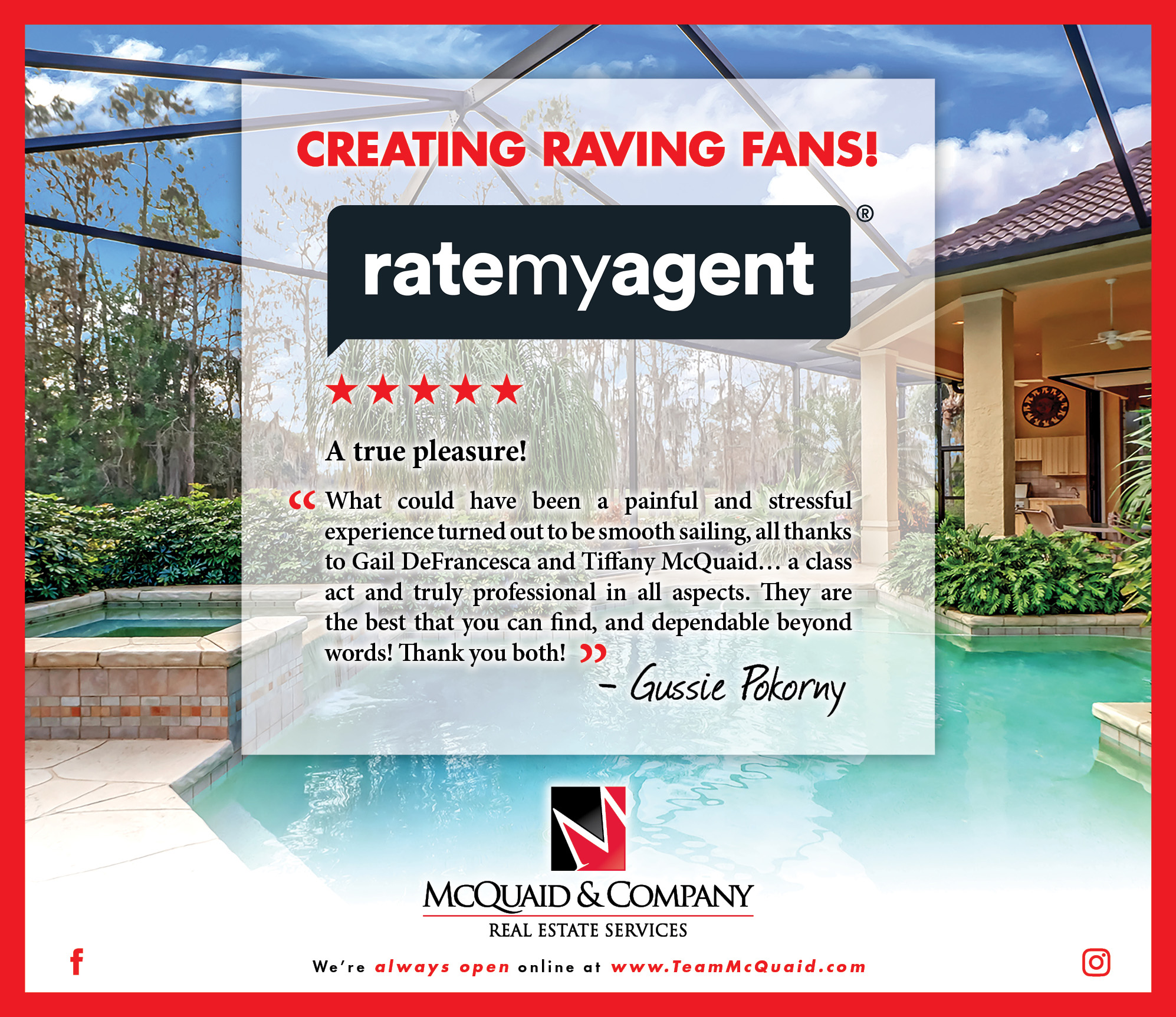 Creating Raving Fans - Quail Creek Estates